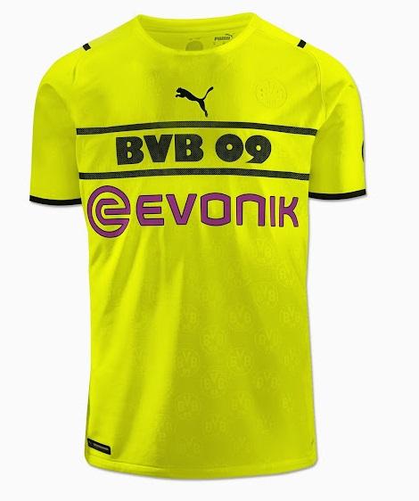 Dortmund 2022 nouveau maillot de coupe football Puma