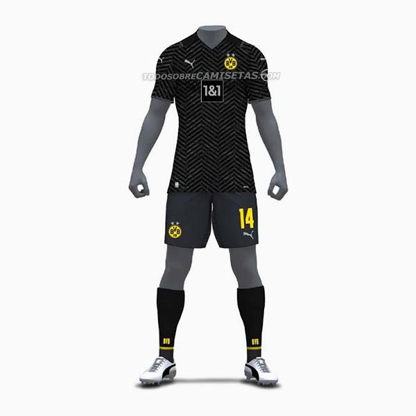 Dortmund 2022 nouveau maillot de foot exterieur