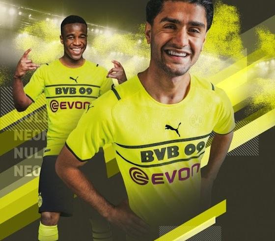 Dortmund 2022 nouveau maillot football coupe