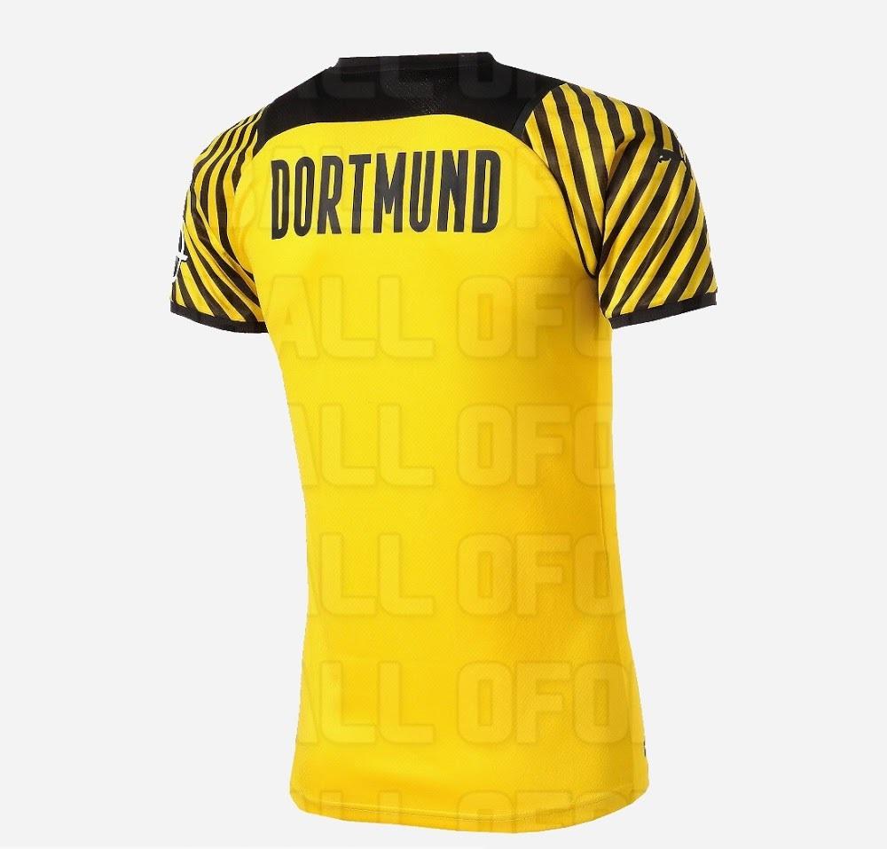 Dortmund 2022 vue dos du maillot domicile