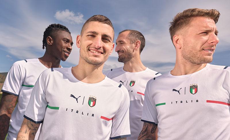 Italie 2021 nouveau maillot exterieur football