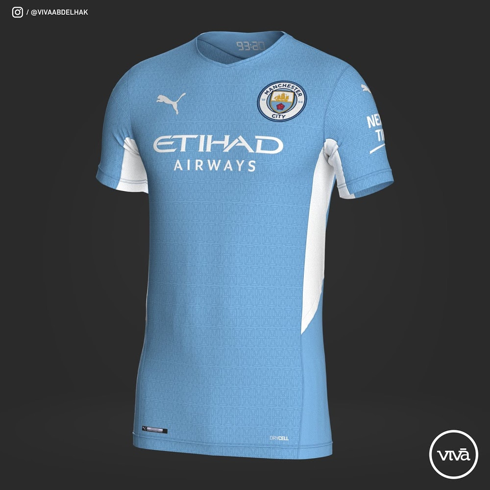 Manchester City 2022 maillot domicile foot
