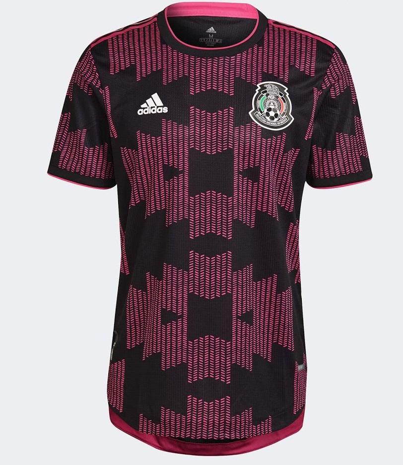 Mexique 2021 maillot domicile Adidas noir rose