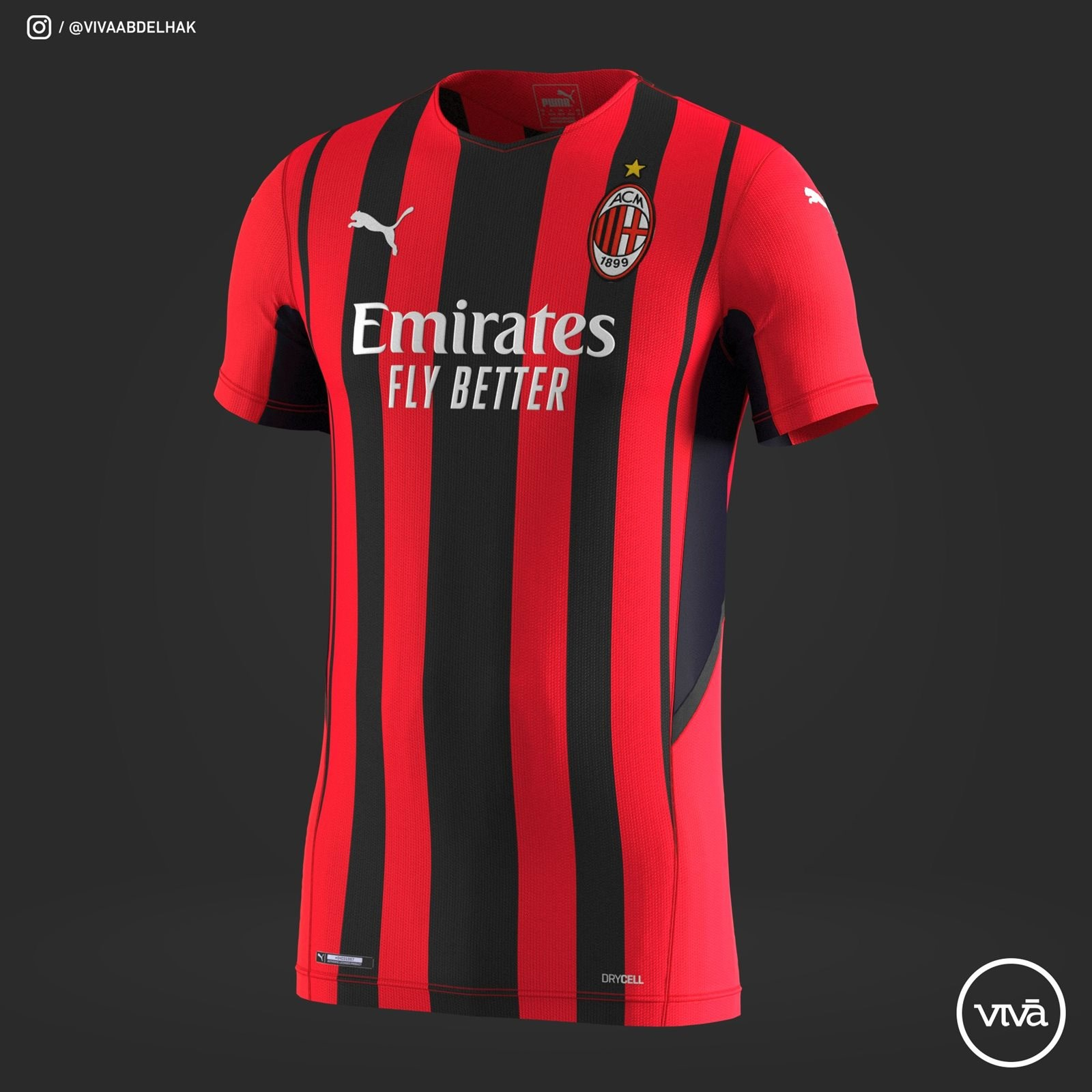 Milan AC 2022 maillot domicile 2021 2022