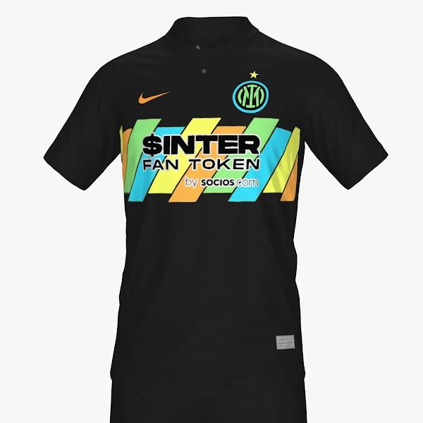 Inter Milan 2022 3eme maillot third foot