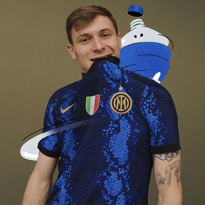 Inter Milan 2022 maillot domicile officiel Nike