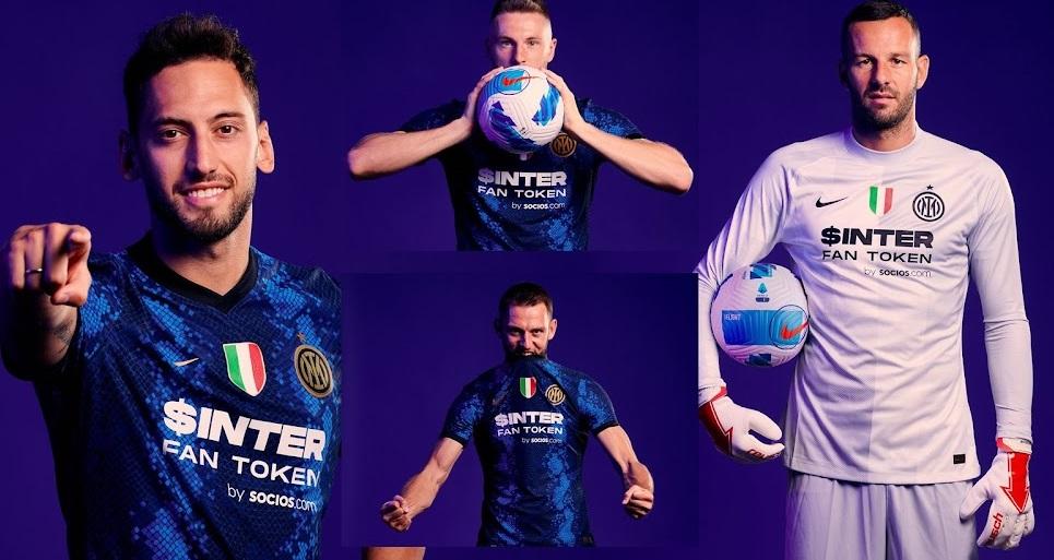 Inter Milan 2022 nouveau maillot domicile Token