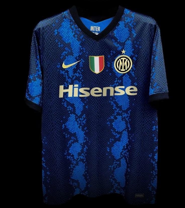 Inter de Milan 2021-2022 design maillot domicile