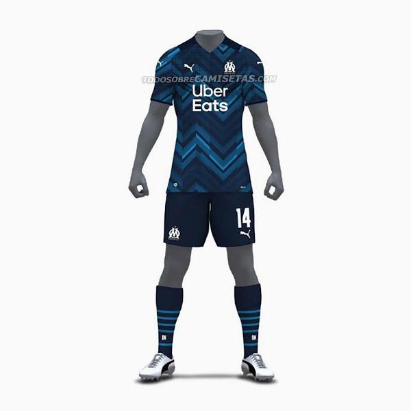 OM 2022 nouveau maillot exterieur Marseille