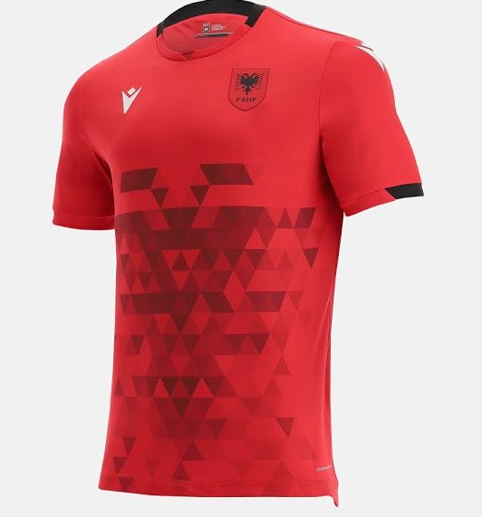 Albanie 2022 nouveau maillot de foot domicile