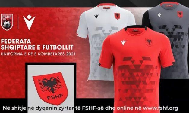 Nouveaux maillots de foot Albanie 2021-2022 par Macron