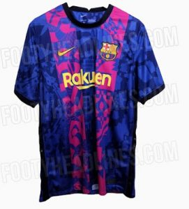 Barcelone 2022 nouveau maillot third ligue des champion