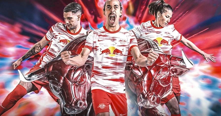 Leipzig 2021 2022 nouveau maillot de foot domicile