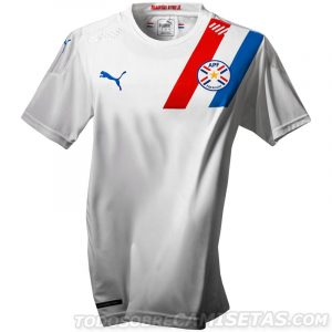 Paraguay Copa America 2020 2021 maillot de foot exterieur