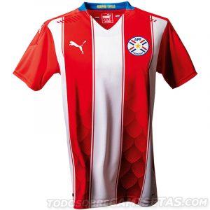 Paraguay Copa America 2020 2021 maillot domicile