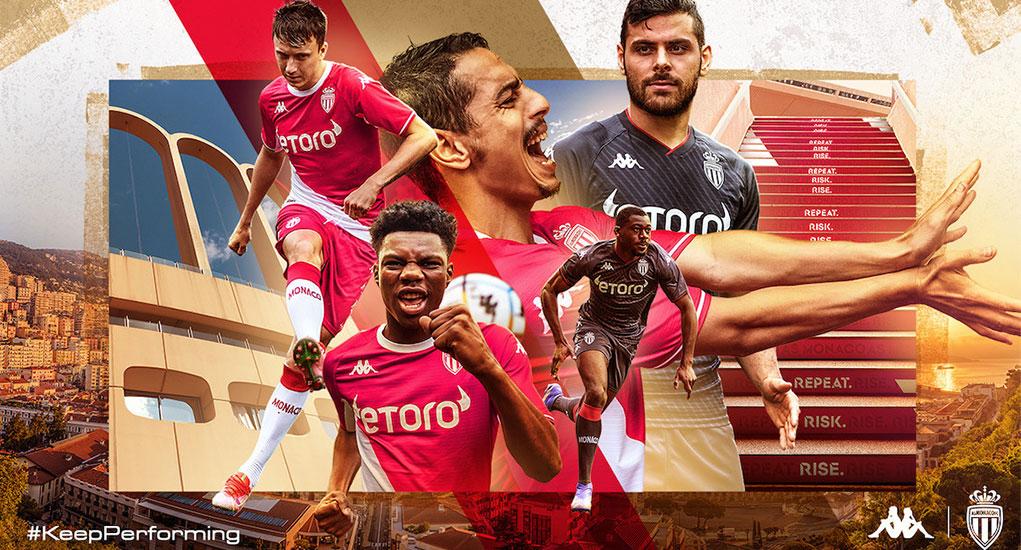 AS Monaco 2022 maillot de football domicile officiel
