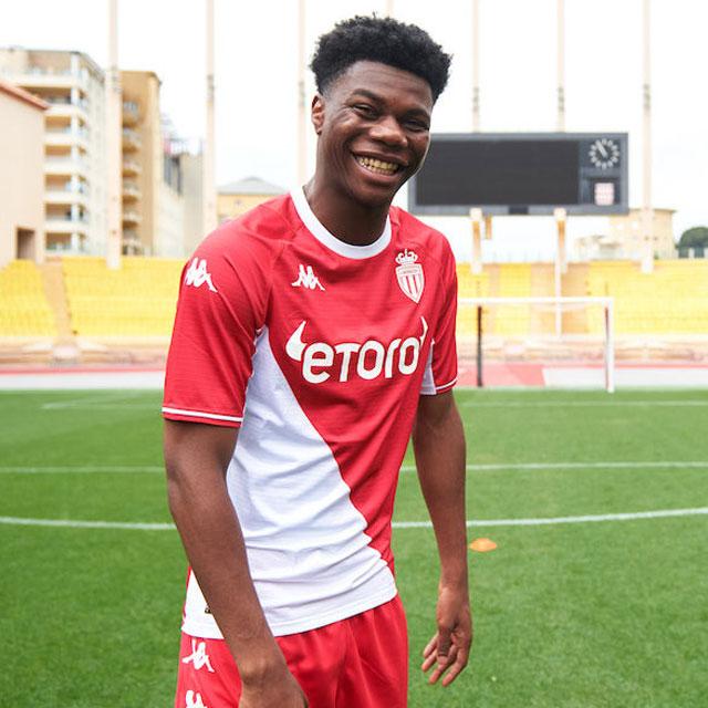 AS Monaco 2022 nouveau maillot domicile