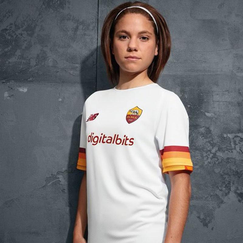 AS Roma 2022 nouveau maillot de foot exterieur New Balance