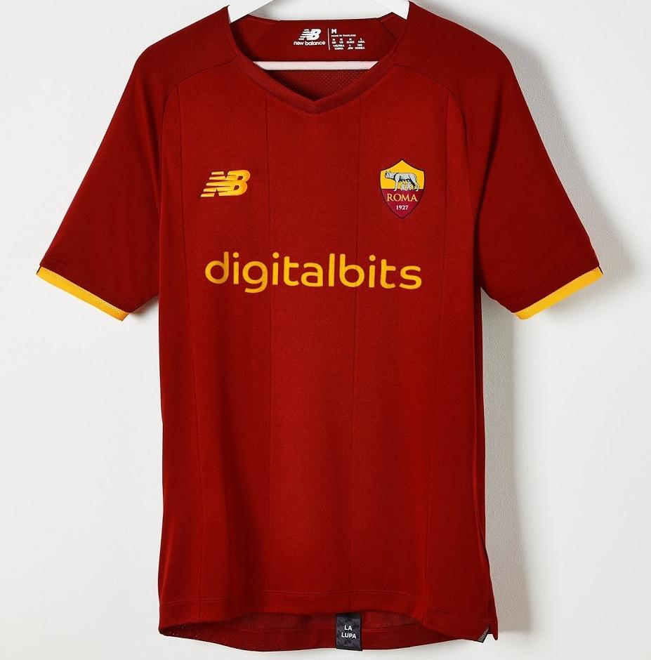 AS Roma 2022 nouveau maillot domicile officiel foot