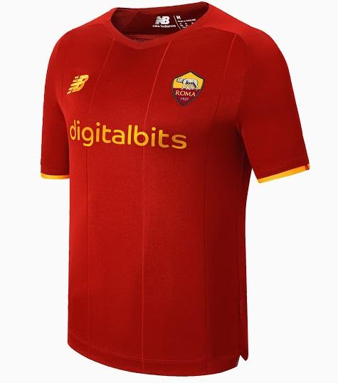 AS Roma 2022 nouveau maillot domicile officiel