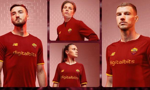 AS Roma 2022 les nouveaux maillots de football présentés