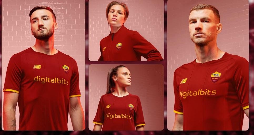 AS Rome 2022 nouveau maillot domicile foot