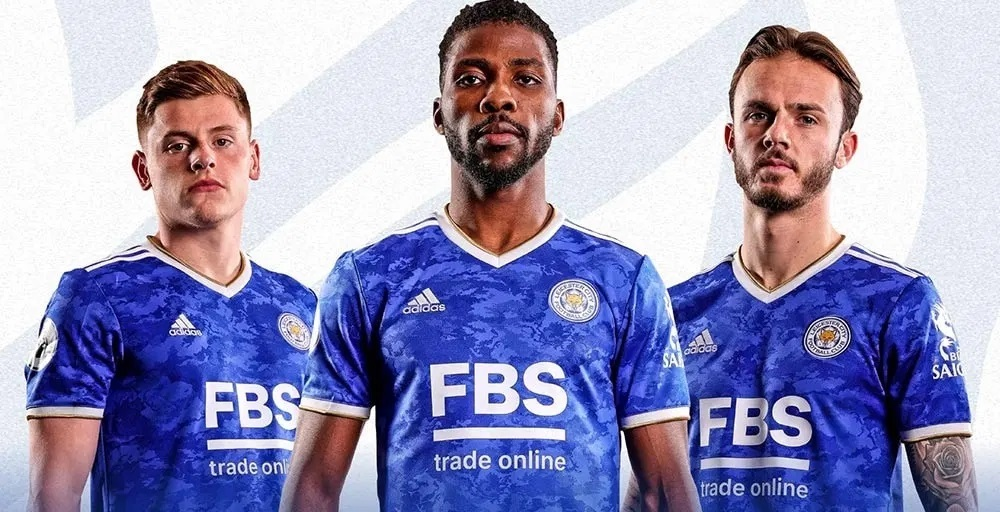 Leicester 2022 maillot domicile football Adidas