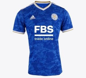 Leicester 2022 maillot domicile football officiel