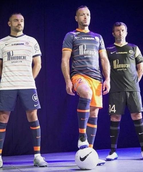 MHSC 2022 nouveaux maillots de foot Montpellier