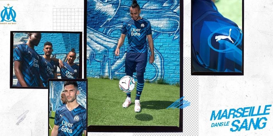 OM 2022 le nouveau maillot exterieur Olympique de Marseille