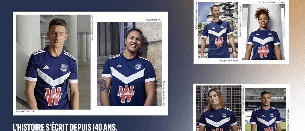 Bordeaux 2022 maillot de football domicile Adidas