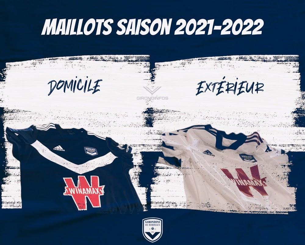 Bordeaux 2022 nouveaux maillots football