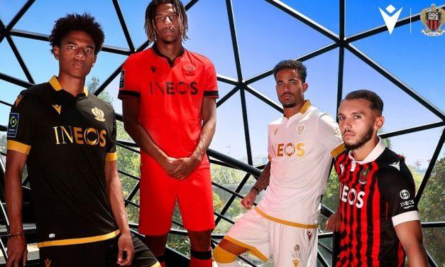 Macron dévoile les maillots de foot OGC Nice 2022