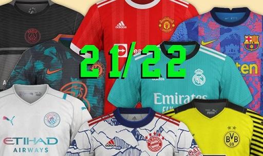 nouveaux maillots de foot 2021-2022