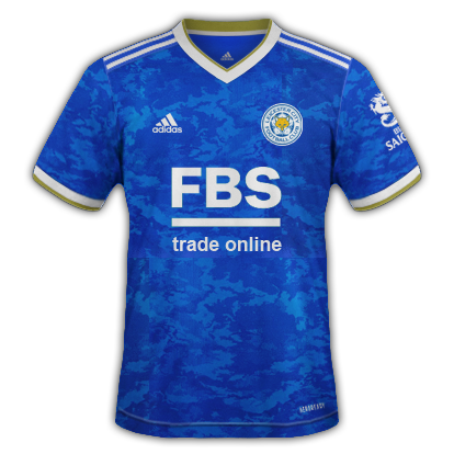 Leicester maillot domicile 2021