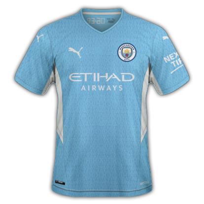 Manchester city maillot domicile 2020