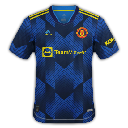 Manchester united 3ème maillot third 2020