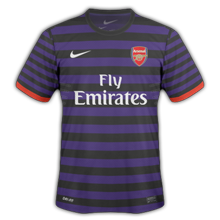 Maillot de foot 2012-2013 de arsenal exterieur
