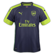 Arsenal 3ème maillot third 2016 2017