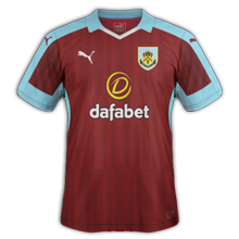 Burnley maillot domicile 2016 2017
