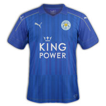 Leicester maillot domicile 2016 2017