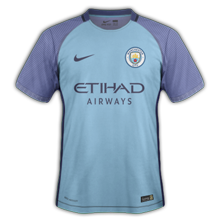 Manchester city maillot domicile 2016 2017