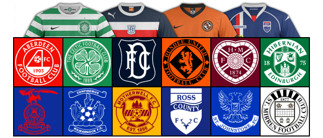 championnat Ecossais SPL 2012/2013 blasons logos