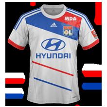 Maillot de foot 2012-2013 de lyon domicile 2012 2013