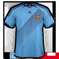 maillot foot Espagne 2012 exterieur