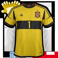 Espagne maillot foot de gardien euro 2012