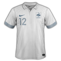 Maillot de foot 2011-2012 de france exterieur