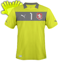 Maillot de foot 2011-2012 de republique tcheque gardien