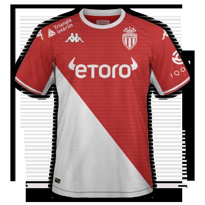 Monaco maillot domicile 2020