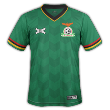 Zambie maillot domicile CAN 2015